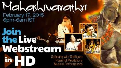 Mahashivarathri - Join the Live Webstream