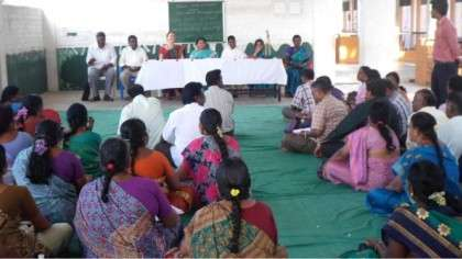 Feedback session at Isha Vidhya Cuddalore school - Isha Foundation conducts workshops for Government school teahcers