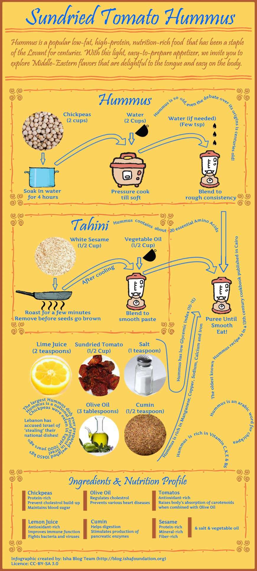 Sun-dried Tomato Hummus Recipe - Infographic