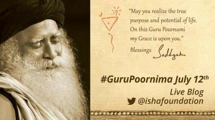 Guru Poornima 2014 celebrations - Sadhguru message