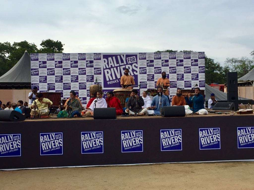 Culturals by Samskriti and Sounds of Isha Rally For Rivers Day 01 Coimbatore 06