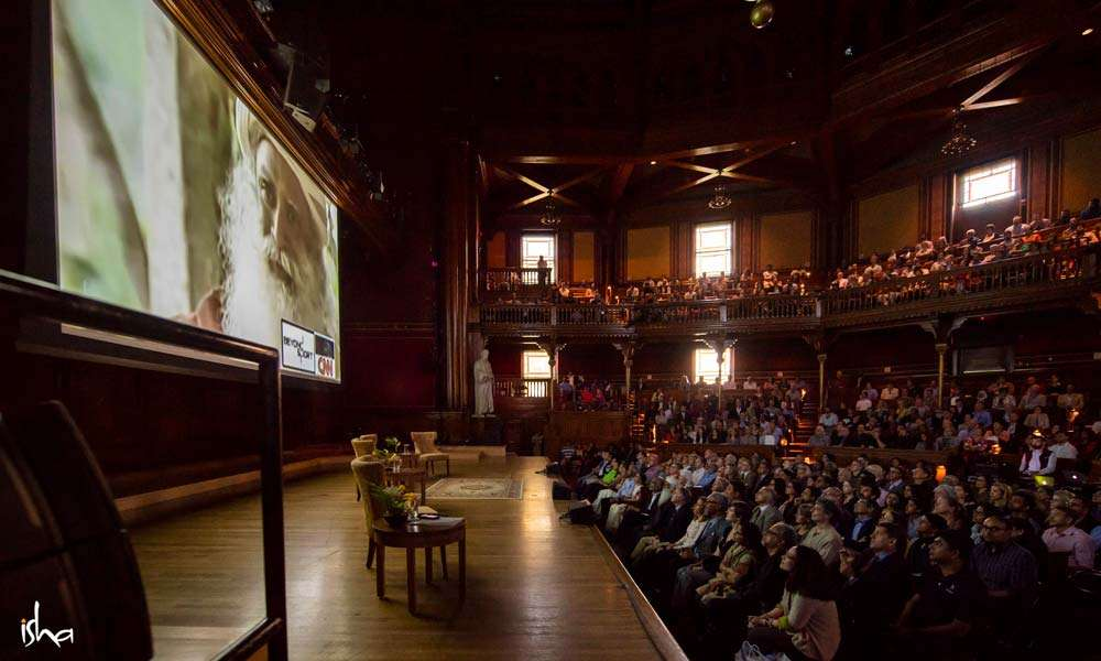 The venue: Sanders Theatre at Harvard University