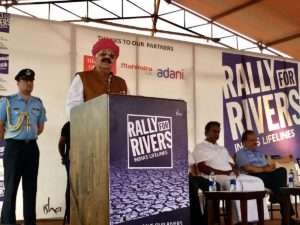 V P Singh Badnore, Governor of Punjab at launch of Rally for Rivers