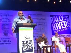 Mr. Thomas at the event for Rally for Rivers