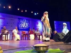 Sadhguru at the Rally for Rivers event at  Thiruvananthapuram