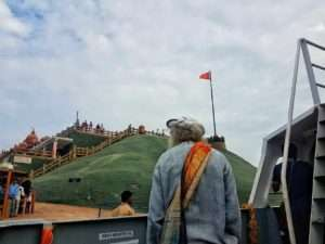 Sadhguru at Vivekananda Rock