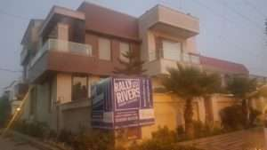 Residence turning Blue now for Rally for Rivers