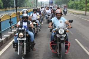 bike and sycle rally, indore, MP in support of Rally for Rivers