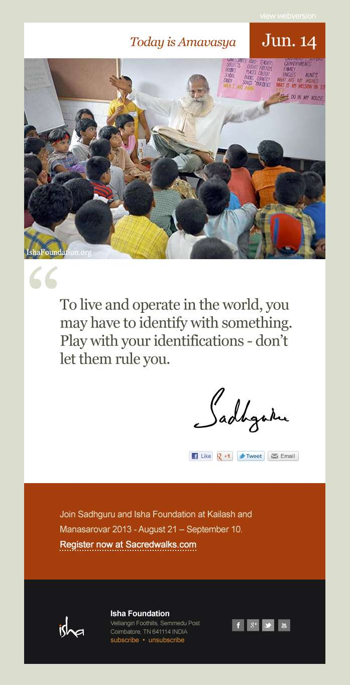 Mystic Quotes A Daily Quote From Sadhguru To Start The Day