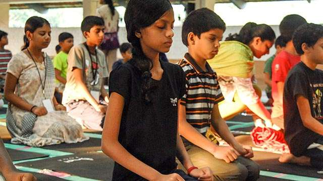 Yoga is part of the learning adventure