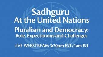 Sadhguru on Citizens and Democracy at the UN – Oct 30/31 (US/India)