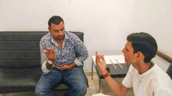 Danish Kaneria Learns Isha Upa-Yoga