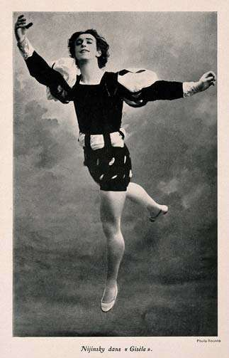 Vaslav Nijinsky, a ballet dancer, in a scene from G̀isè