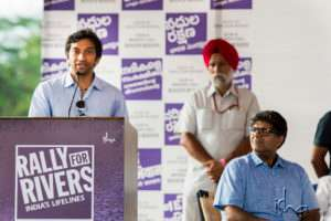 Narain Karthikeyan at the launch of Rally for Rivers