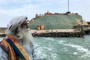 Sadhguru at the VIvekananda Rock, Kanyakumari
