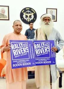 Yogi adityanath, Chief minister of Uttar Pradesh supports for Rally for Rivers