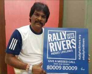 Dhanraj Pillai,Former Hockey Captain supports for Rally for Rivers