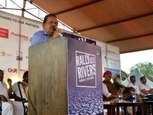 Dr Harsh Vardhan. Hon'ble Minister at t the launch of Rally for Rivers