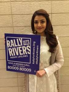 Female Actor Kajal Aggarwal supports for Rally For Rivers