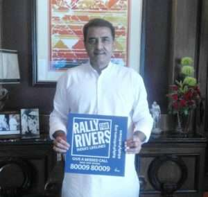 Praful Patel, Member of Parliment supports for Rally for Rivers