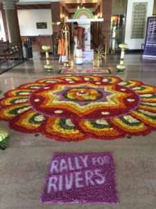 Grand welcome for the Rally for Rivers