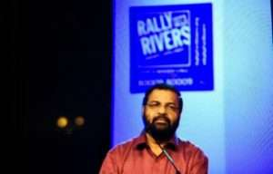 Shri Kadakampalli Surendran at Rally for Rivers event in Thiruvananthapuram
