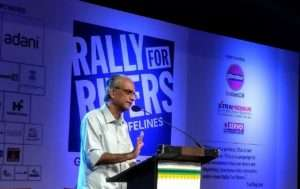Malayalam University Vice Chancellor, K. Jayakumar for Rally for Rivers event