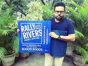Kannada Actor Santhosh Anandram supports for Rally For Rivers