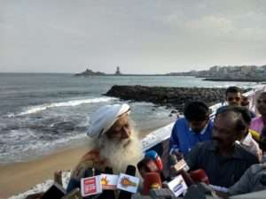 Sadhguru at Kanyakumari
