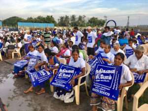 Trichy crowd for Rally for Rivers