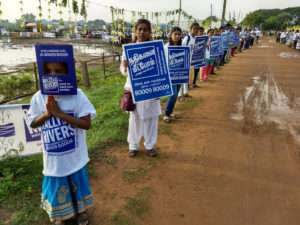 A Heartwarming welcome for the Rally for Rivers at Tirchy