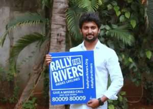 Actor Nani support for Rally For Rivers