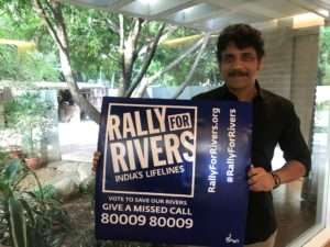 Actor Akkineni Nagarjuna supports for Rally For Rivers