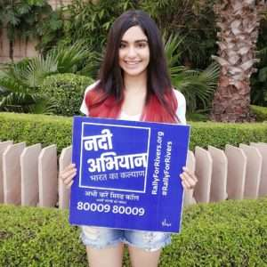 Female actor Adah Sharma supports for Rally For Rivers