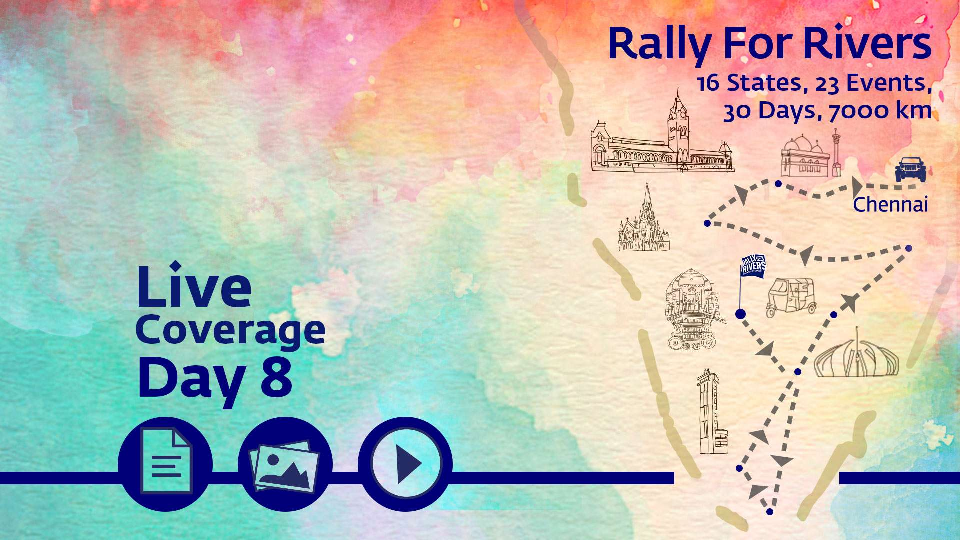 Rally For Rivers in Chennai
