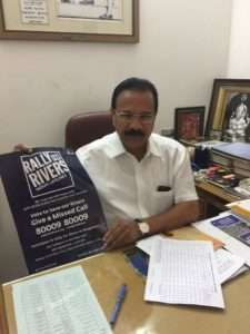 D V Sadanand Gowda, Union Minister in support of Rally for Rivers