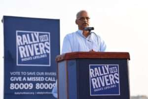 Bhanudas Dhakras, General Secretary, Vivekananda Kendra in support of Rally for Rivers