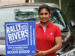 Mithali Raj, cricketer supports for Rally for Rivers