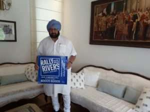 Amarinder Singh, Chief Minister, Punbaj supports for Rally for Rivers