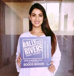 Sonal Chauhan supports for Rally For Rivers