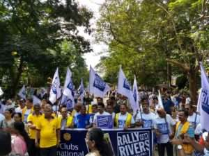Thiruvananthapuram for the Rally for Rivers