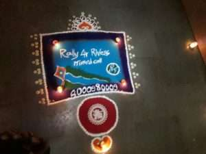 Rangooli at a house in pune for Rally for Rivers (1)