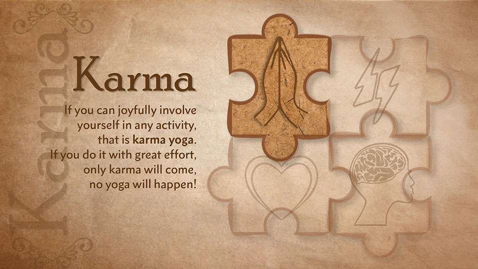 Karma yoga is the yoga of action